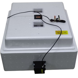 Инкубатор с цифровым терморегулятором 104 яйца автопереворот 12В с вентиляторами