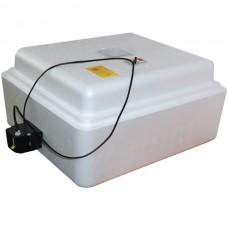 Инкубатор с аналоговым терморегулятором, цифровой индикацией, на 63 яйца, автопереворот