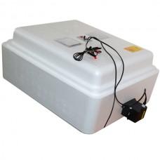 Инкубатор с аналоговым терморегулятором, цифровой индикацией, на 63 яйца, механический переворот, 12В