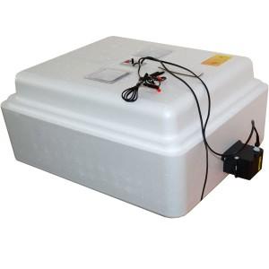 Инкубатор с аналоговым терморегулятором, цифровой индикацией, на 77 яиц, автопереворот, 12В
