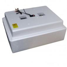 Инкубатор с аналоговым терморегулятором, цифровой индикацией, на 104 яйца, механический переворот, 12В